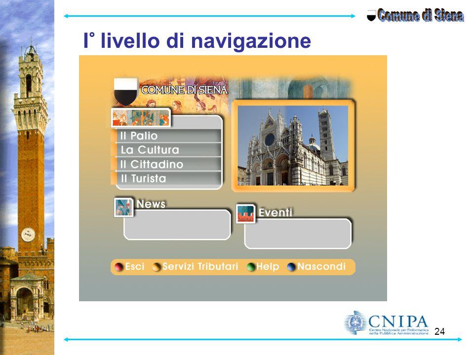 Comune di Siena I° livello di navigazione