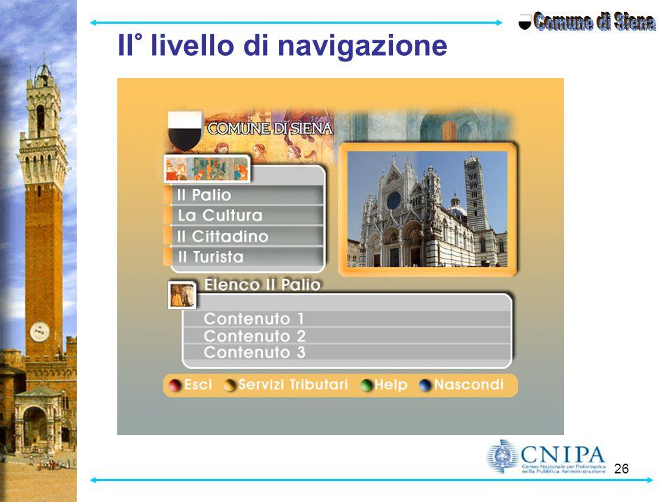 Comune di Siena II° livello di navigazione