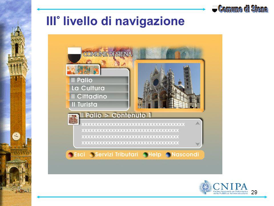 Comune di Siena III° livello di navigazione