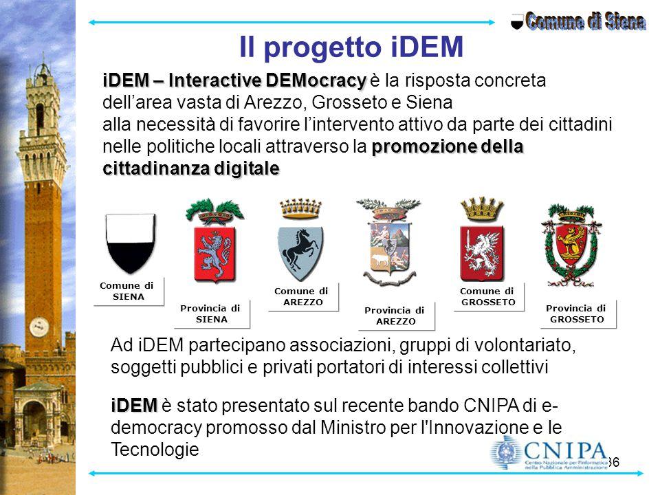 Comune di Siena Il progetto iDEM