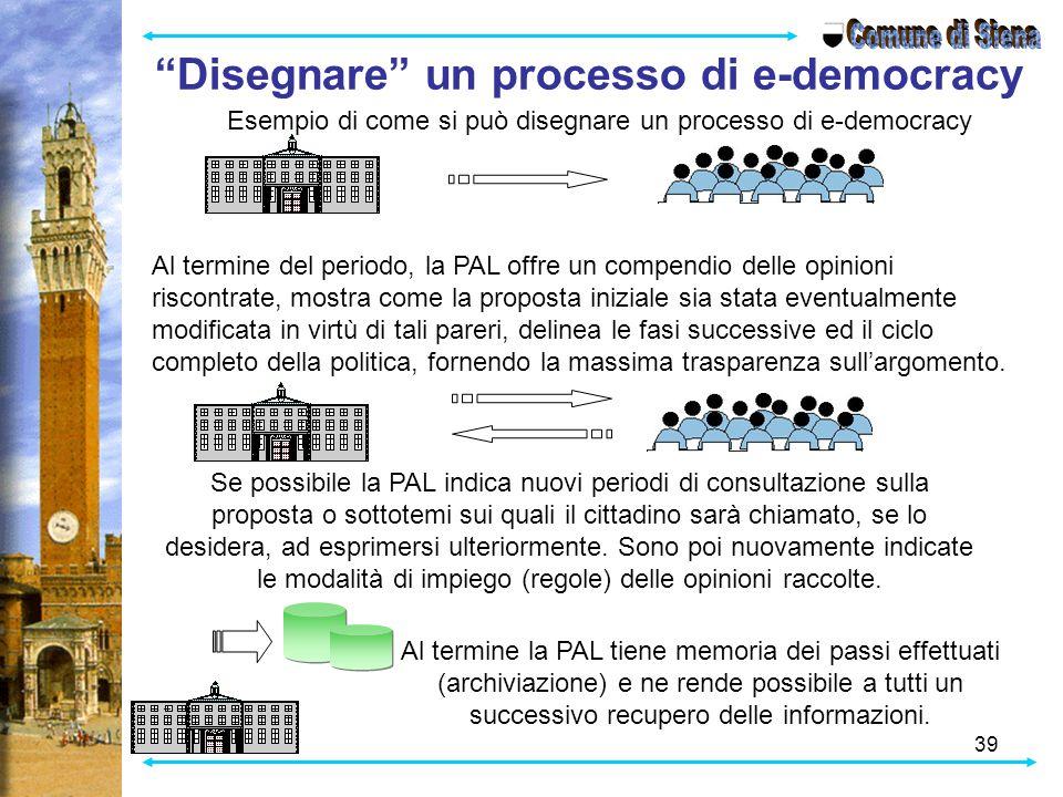Disegnare un processo di e-democracy