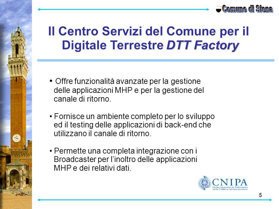 Il Centro Servizi del Comune per il Digitale Terrestre DTT Factory