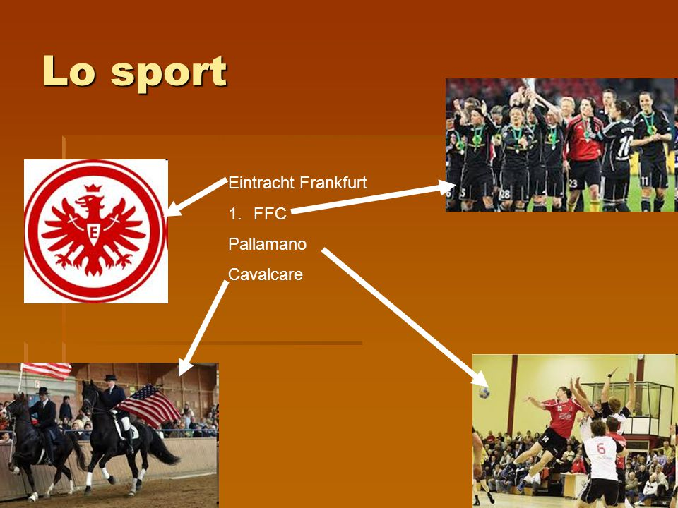 Lo sport Eintracht Frankfurt FFC Pallamano Cavalcare