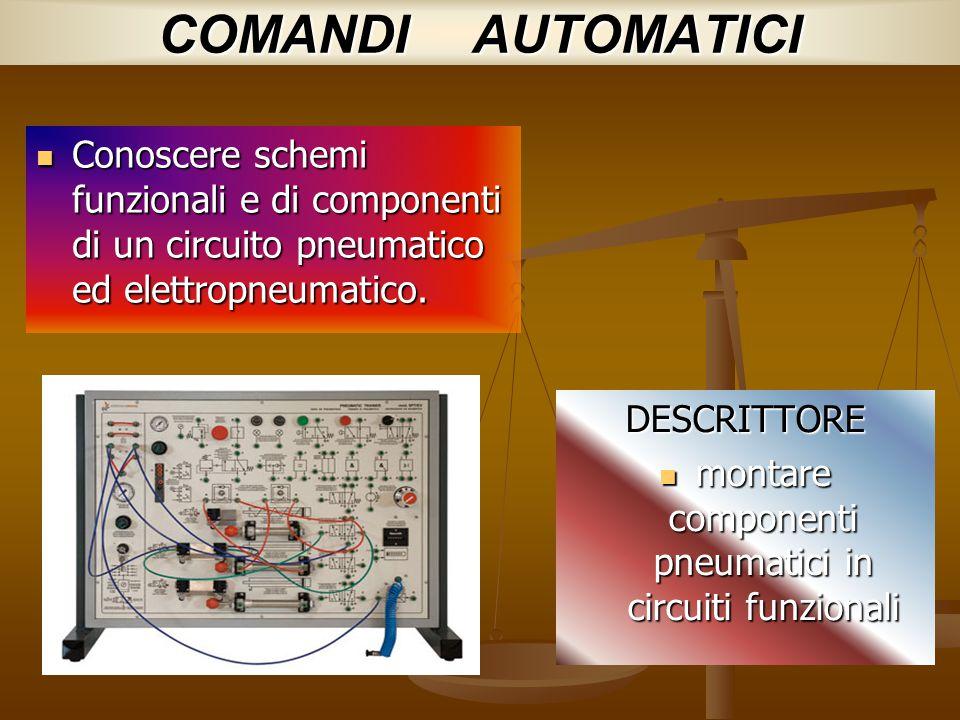 montare componenti pneumatici in circuiti funzionali