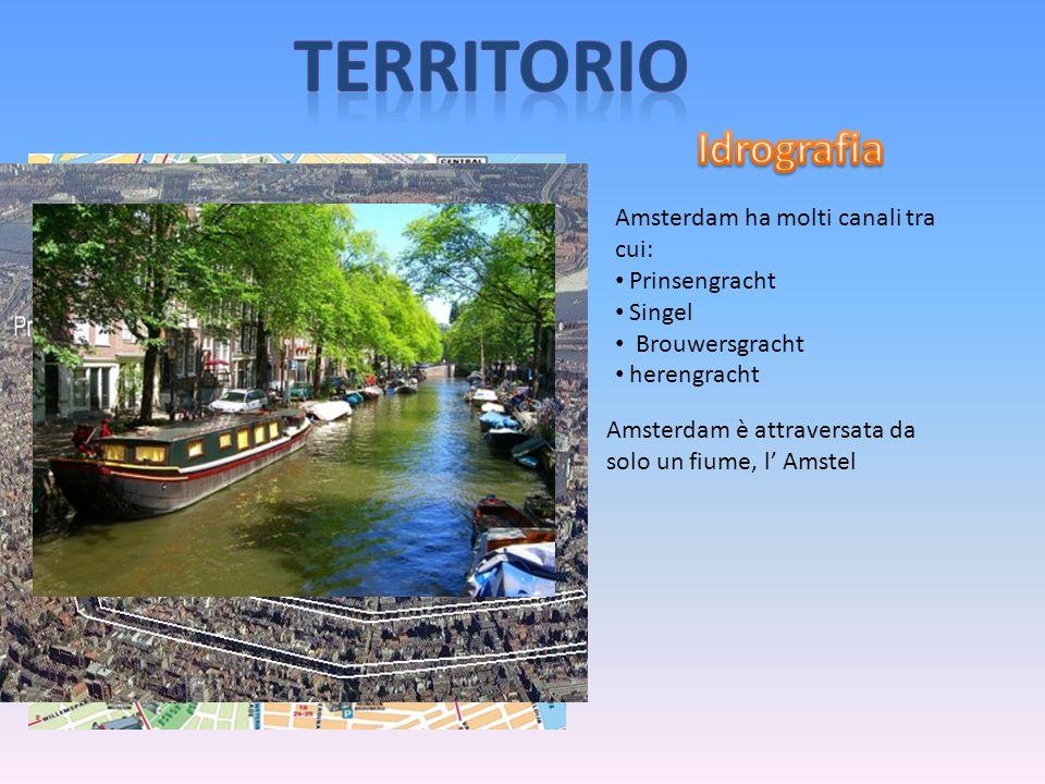 territorio Idrografia Amsterdam ha molti canali tra cui: Prinsengracht