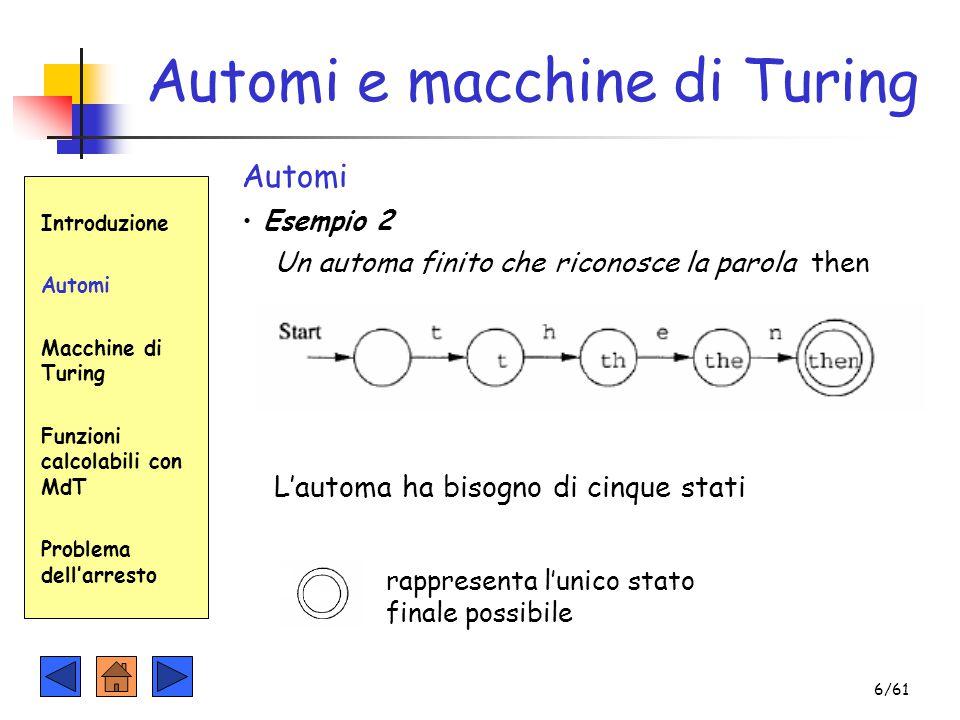 Automi e macchine di Turing