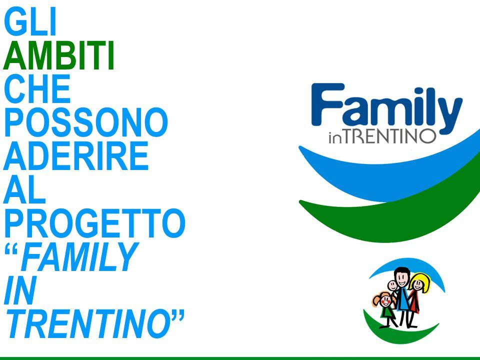GLI AMBITI CHE POSSONO ADERIRE AL PROGETTO FAMILY IN TRENTINO