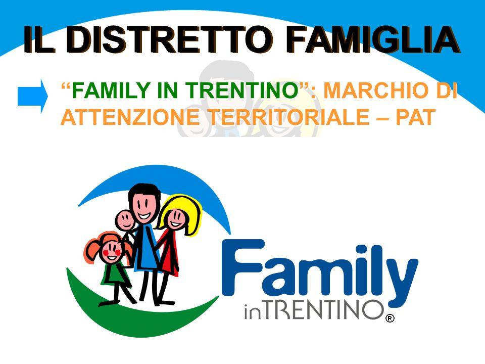IL DISTRETTO FAMIGLIA FAMILY IN TRENTINO : MARCHIO DI ATTENZIONE TERRITORIALE – PAT