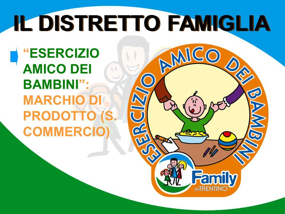 IL DISTRETTO FAMIGLIA ESERCIZIO AMICO DEI BAMBINI : MARCHIO DI PRODOTTO (S. COMMERCIO)