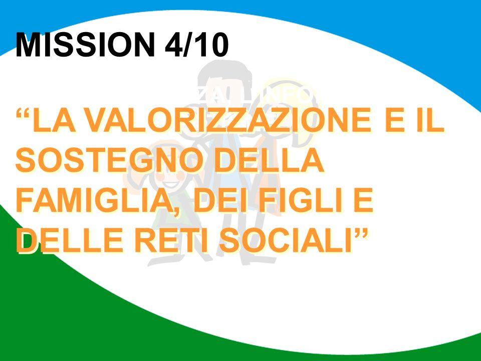 MISSION 4/10 LA TRASPARENZA, L'INFORMAZIONE E LA PARTECIPAZIONE.