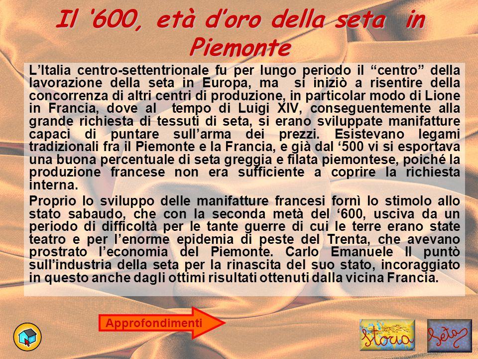 Il '600, età d'oro della seta in Piemonte
