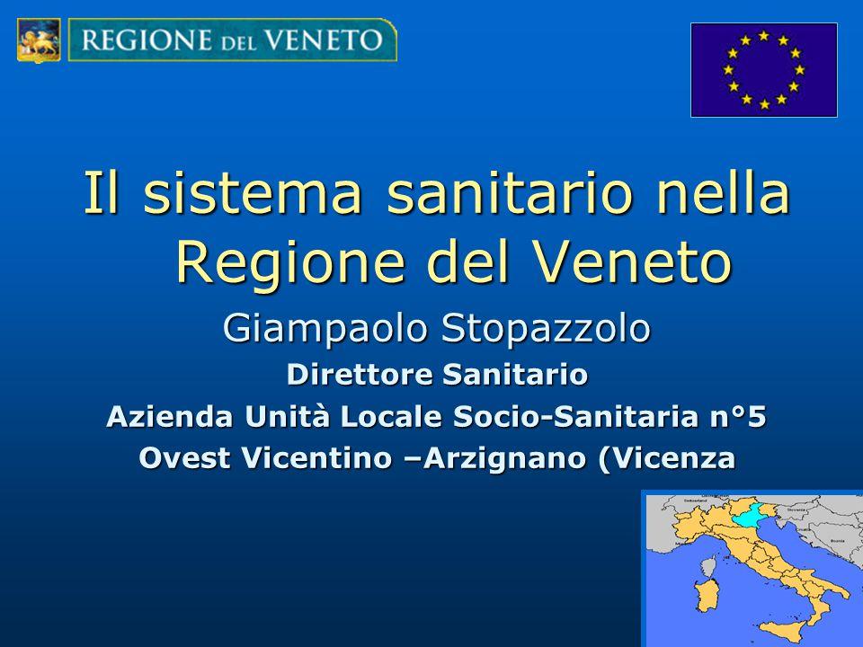 Il sistema sanitario nella Regione del Veneto