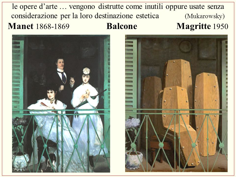 Manet 1868-1869 Balcone Magritte 1950