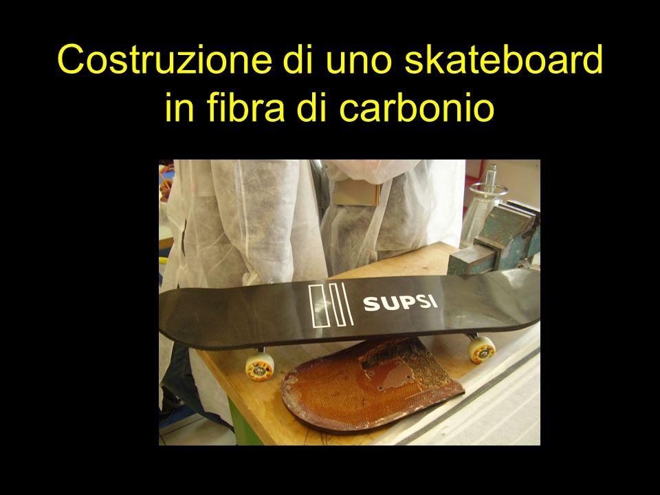 Costruzione di uno skateboard in fibra di carbonio