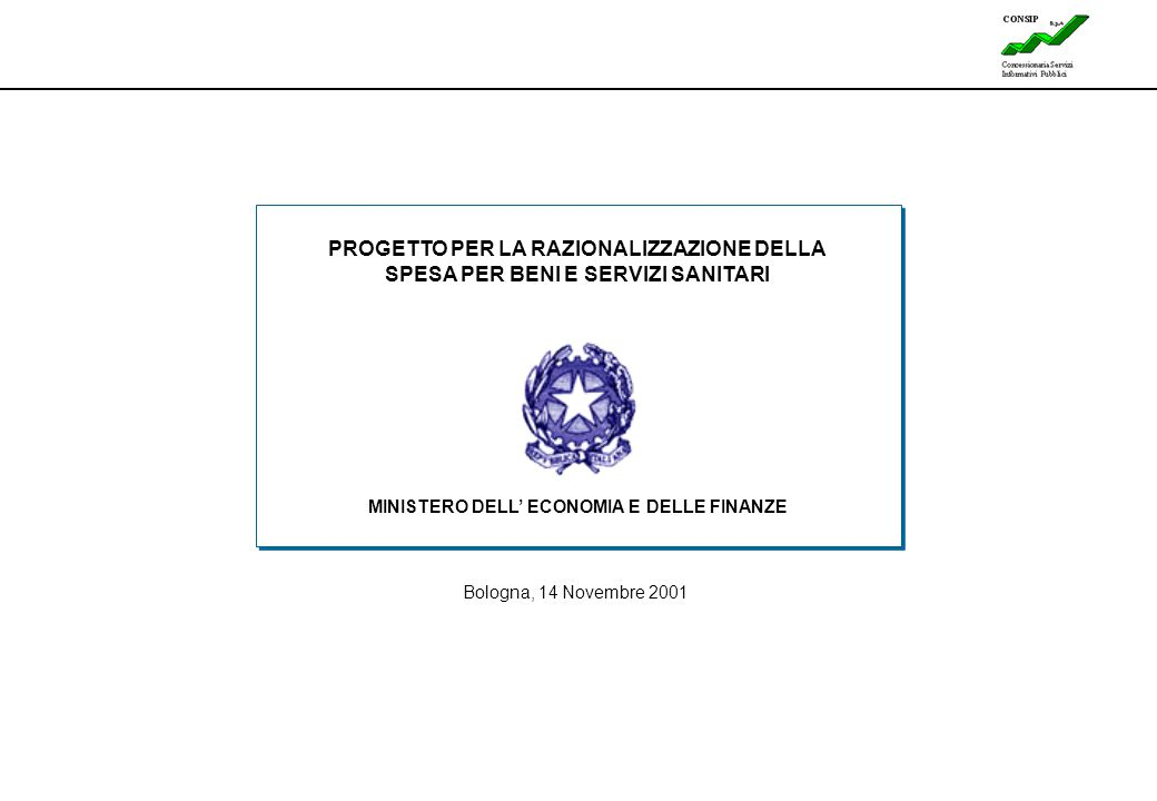 MINISTERO DELL' ECONOMIA E DELLE FINANZE