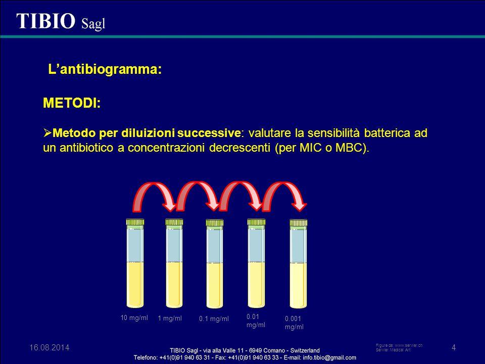 L'antibiogramma: METODI: