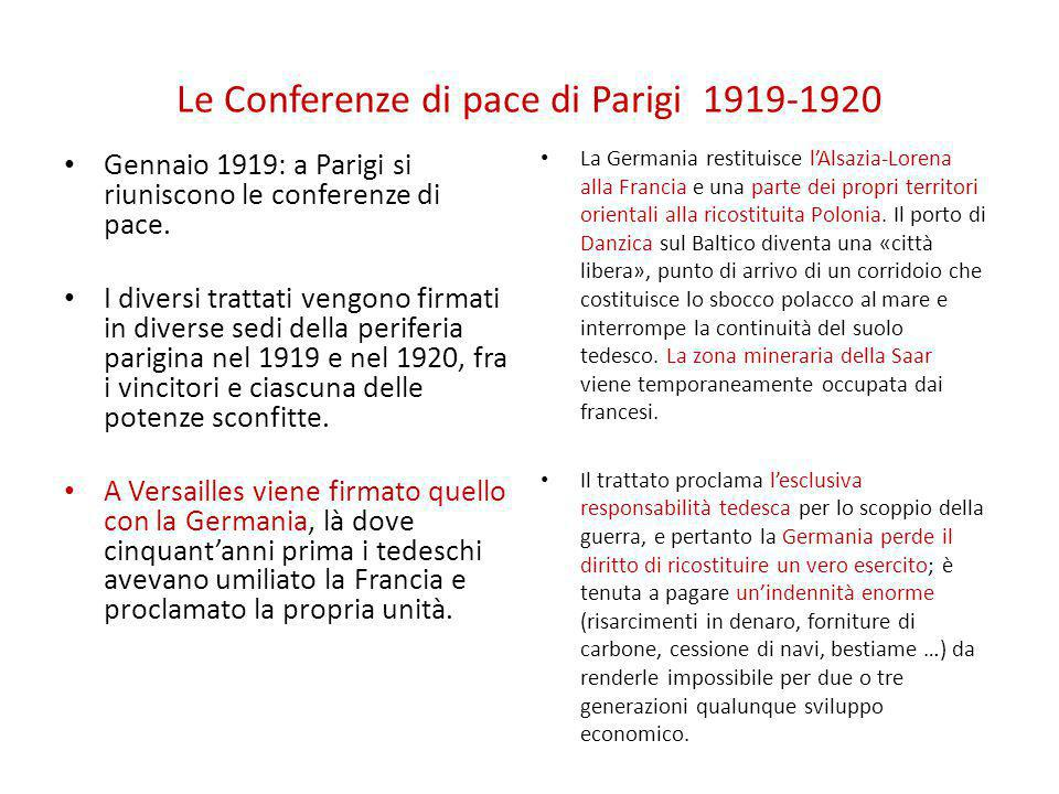 Le Conferenze di pace di Parigi 1919-1920