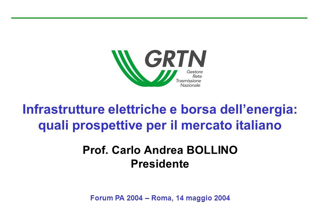 Infrastrutture elettriche e borsa dell'energia:
