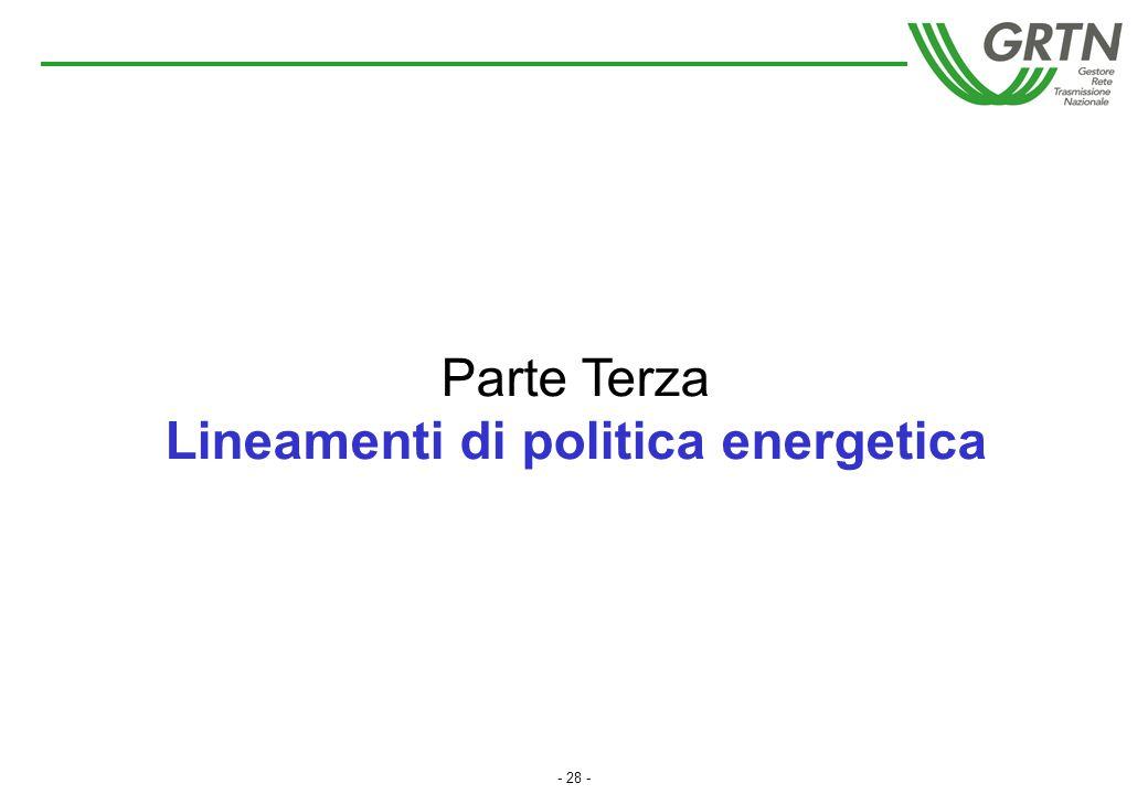 Lineamenti di politica energetica