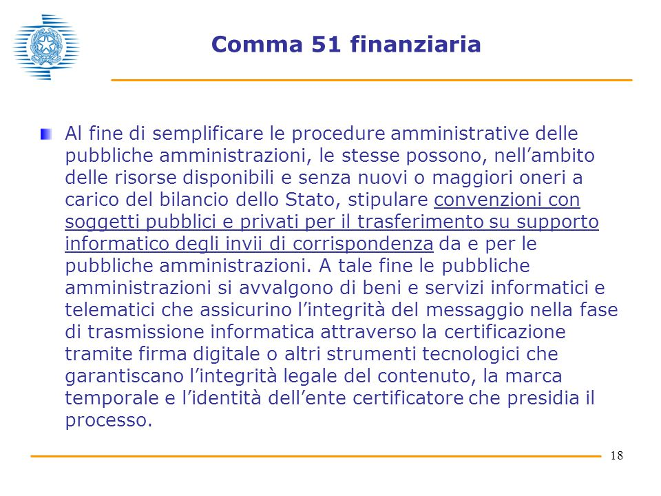 Comma 51 finanziaria