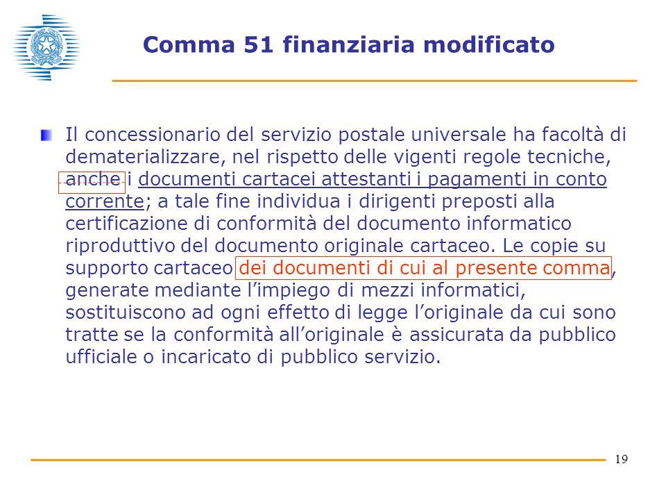 Comma 51 finanziaria modificato
