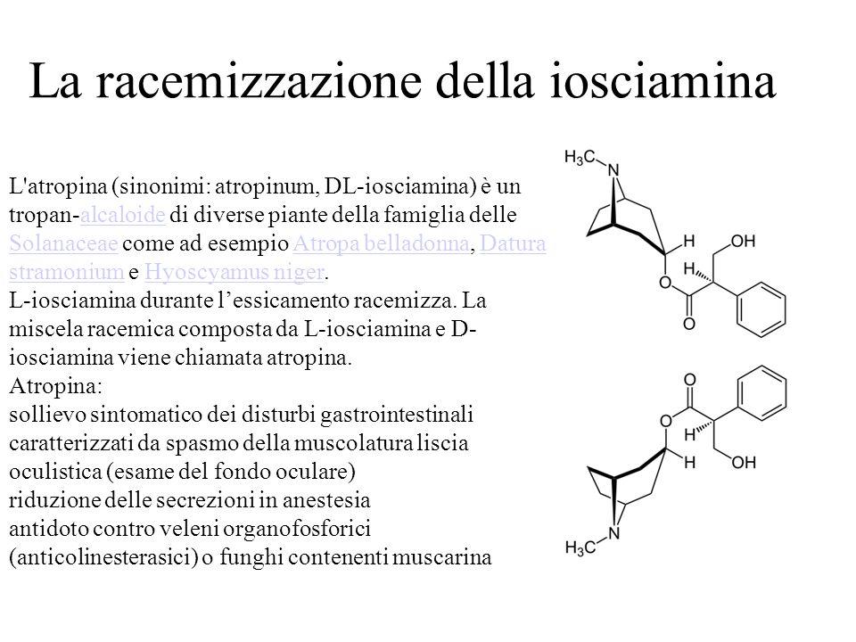 La racemizzazione della iosciamina