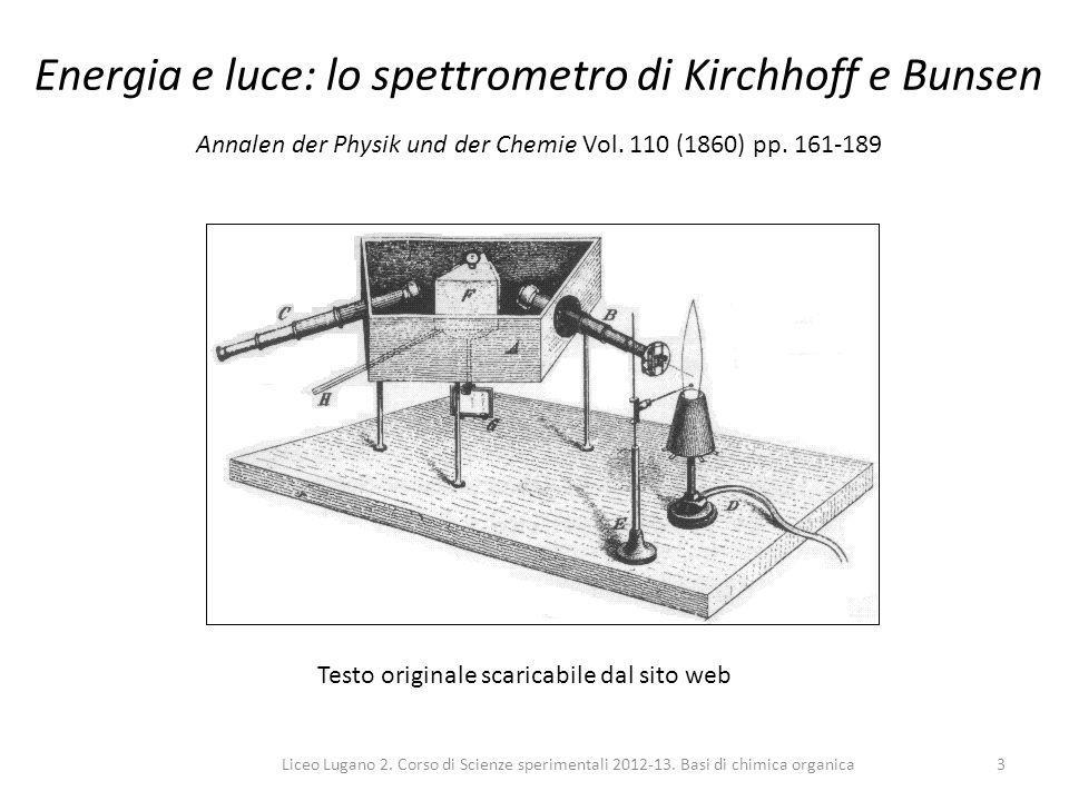Energia e luce: lo spettrometro di Kirchhoff e Bunsen Annalen der Physik und der Chemie Vol. 110 (1860) pp. 161-189