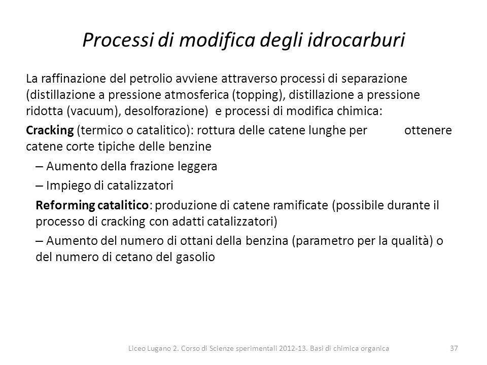 Processi di modifica degli idrocarburi