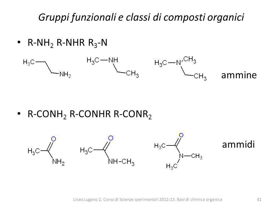 Gruppi funzionali e classi di composti organici