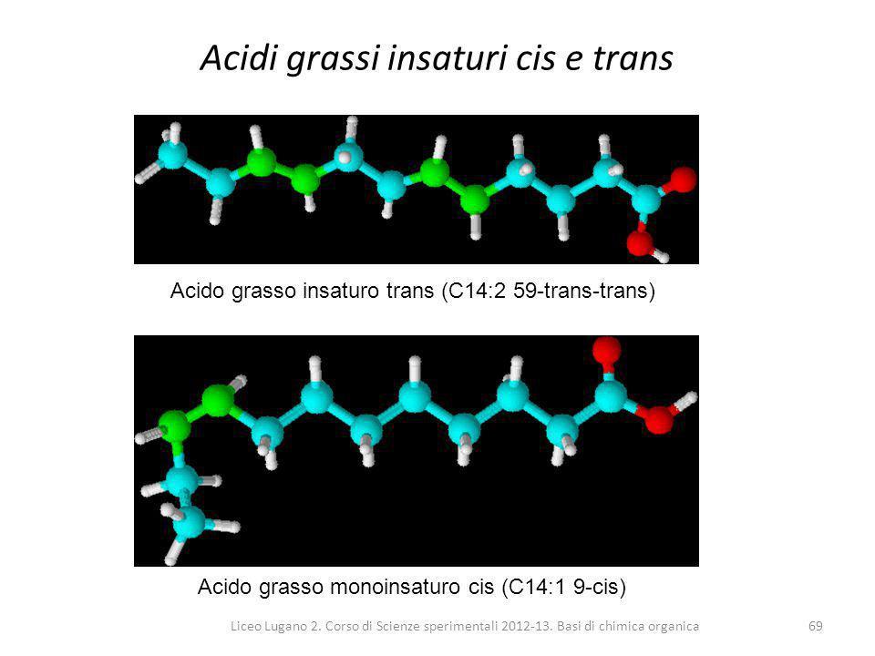 Acidi grassi insaturi cis e trans