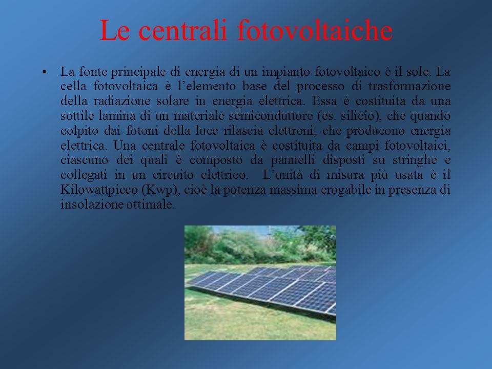 Le centrali fotovoltaiche