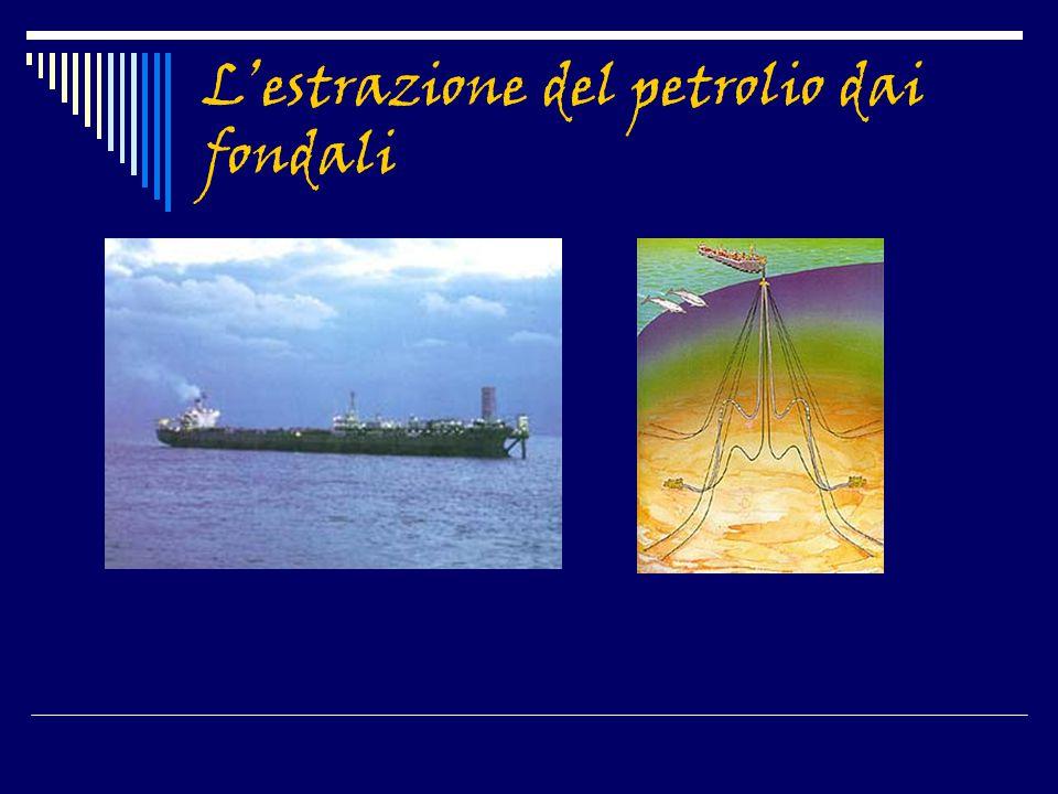 L'estrazione del petrolio dai fondali