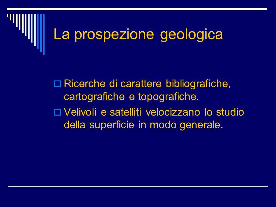 La prospezione geologica