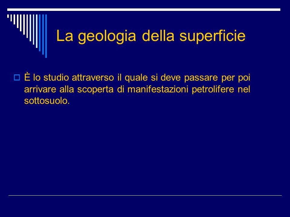 La geologia della superficie
