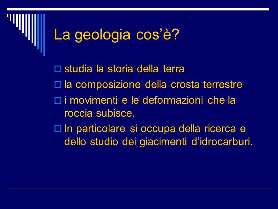 La geologia cos'è studia la storia della terra