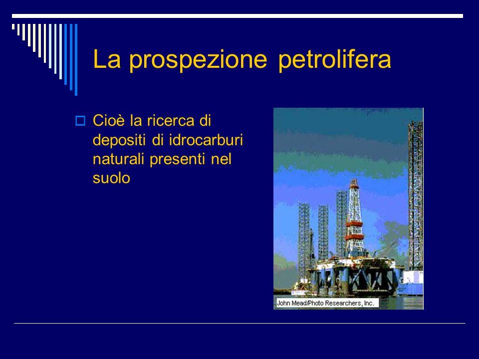 La prospezione petrolifera