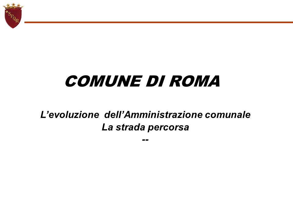 L'evoluzione dell'Amministrazione comunale