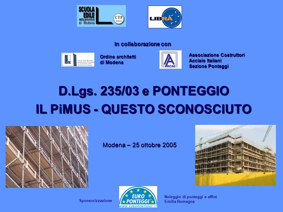 Associazione Costruttori Acciaio Italiani Sezione Ponteggi