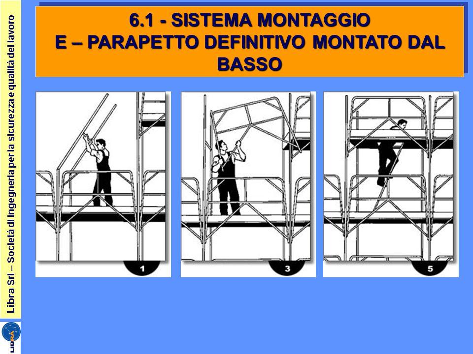 6.1 - SISTEMA MONTAGGIO E – PARAPETTO DEFINITIVO MONTATO DAL BASSO