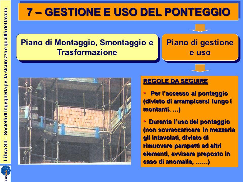 7 – GESTIONE E USO DEL PONTEGGIO