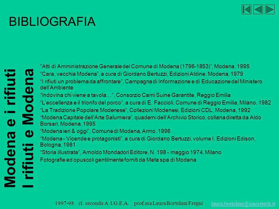 BIBLIOGRAFIA Atti di Amministrazione Generale del Comune di Modena (1796-1853) , Modena, 1995.