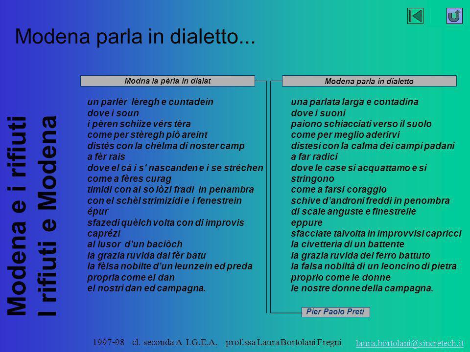 Modena parla in dialetto...