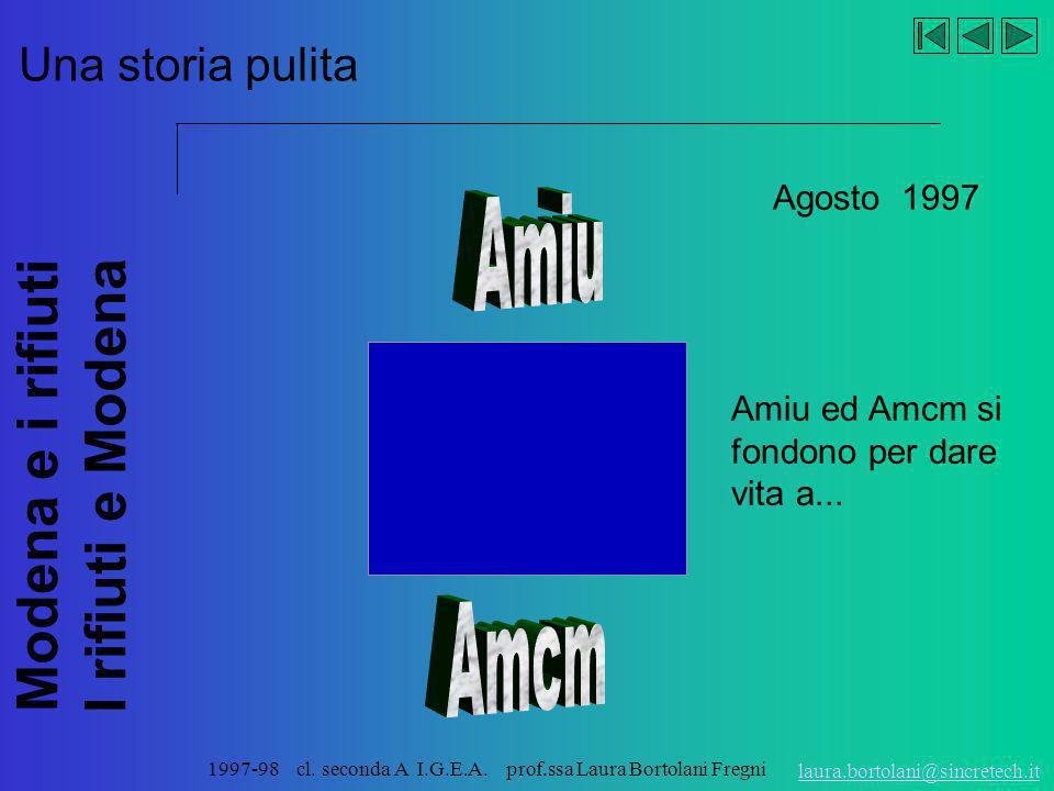 Amiu Amcm Una storia pulita Agosto 1997