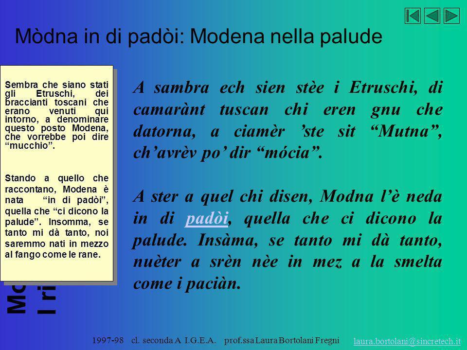 Mòdna in di padòi: Modena nella palude