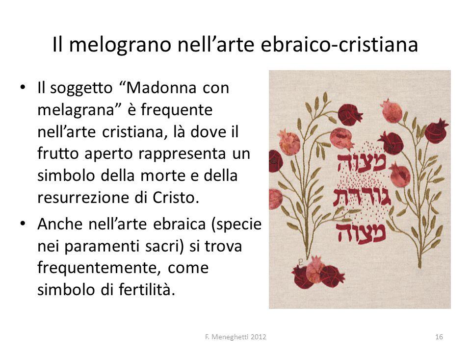 Il melograno nell'arte ebraico-cristiana