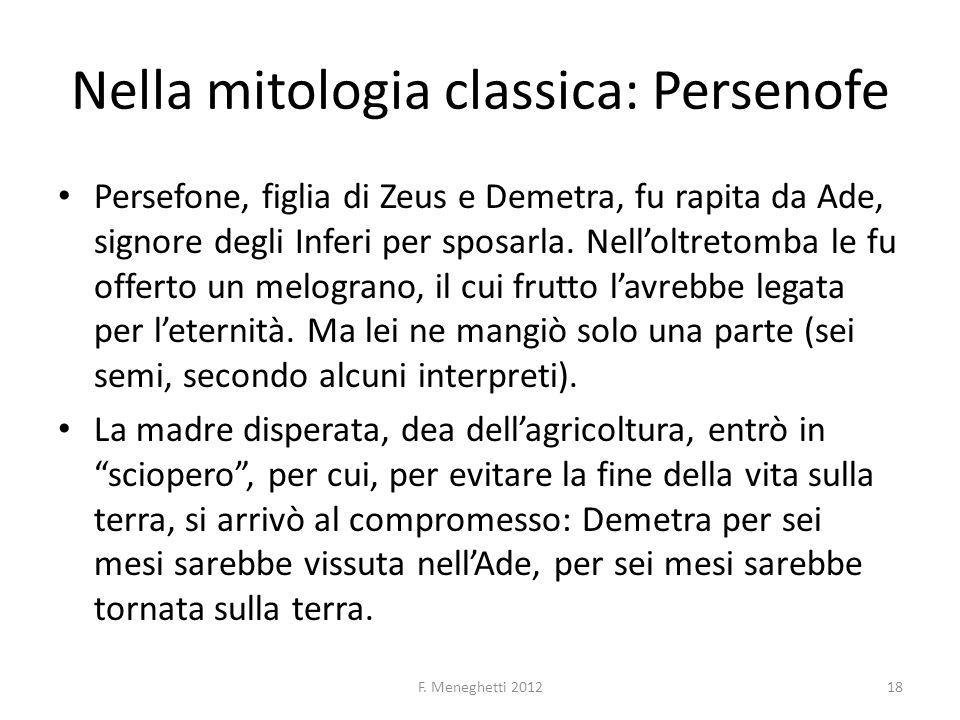 Nella mitologia classica: Persenofe