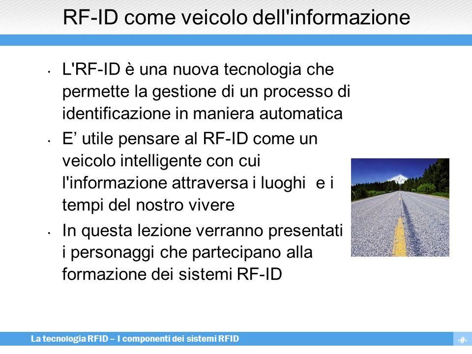 RF-ID come veicolo dell informazione