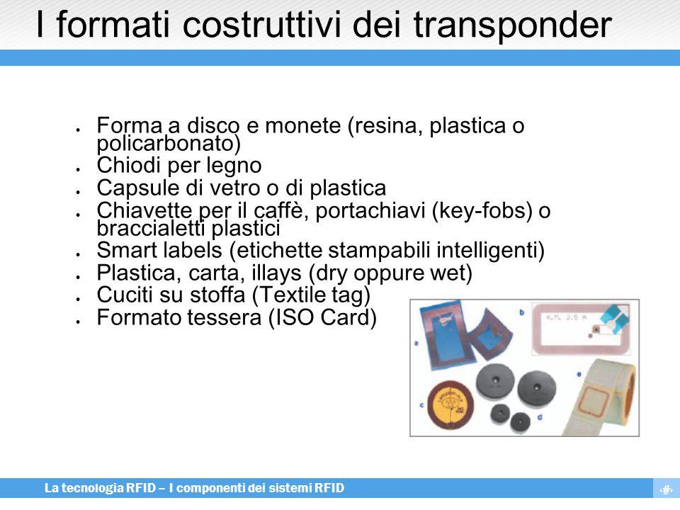 I formati costruttivi dei transponder