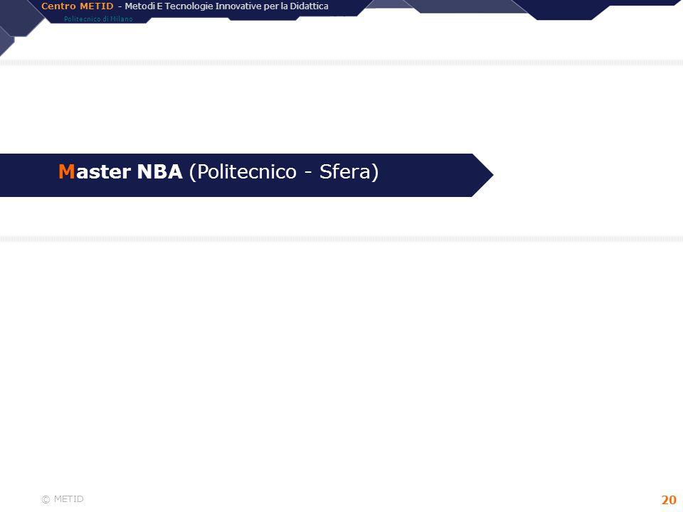 Master NBA (Politecnico - Sfera)