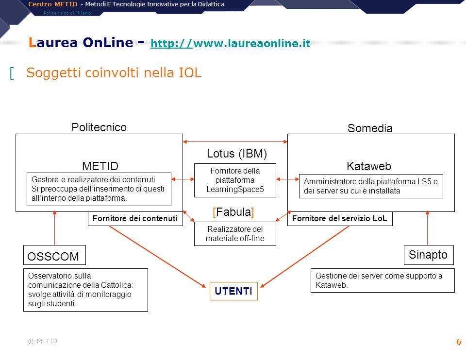 Laurea OnLine - http://www.laureaonline.it